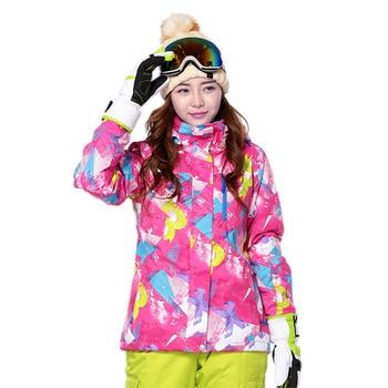 Snow jacket for women Outdoor Sport ski Outerwear Waterproof Warm thicken Outfit Coat warm breathable Winter Jacket Girls