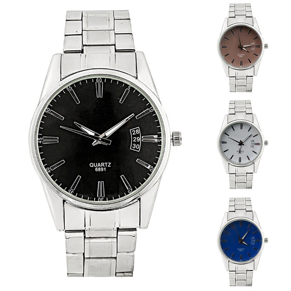 Fashion Round Dial Stainless Steel Band Quartz Watch Unisex Business Analog Wrist Watch Couple Watch Men Women Relógio De Casal