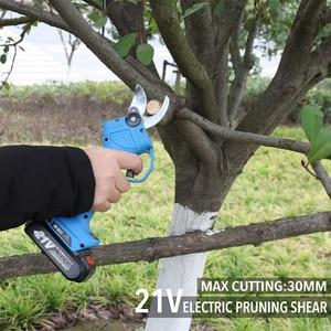 Image 5 - Elektrikli budama makası şarj edilebilir ev bahçe makası akülü Secateur meyve ağacı dalları kesici