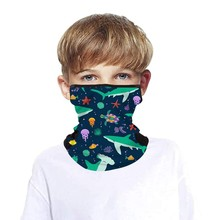 40# Kids Bandana Scarf Breathable Mesh Holes Face Cover Cooling Neck Gaiters With Ear Loops Hiking Scarves Бандана На Голову