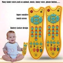 Детские игрушки музыка мобильный телефон пульт дистанционного управления для телевизора ранние образовательные электрический число обучения машина игрушка подарок для