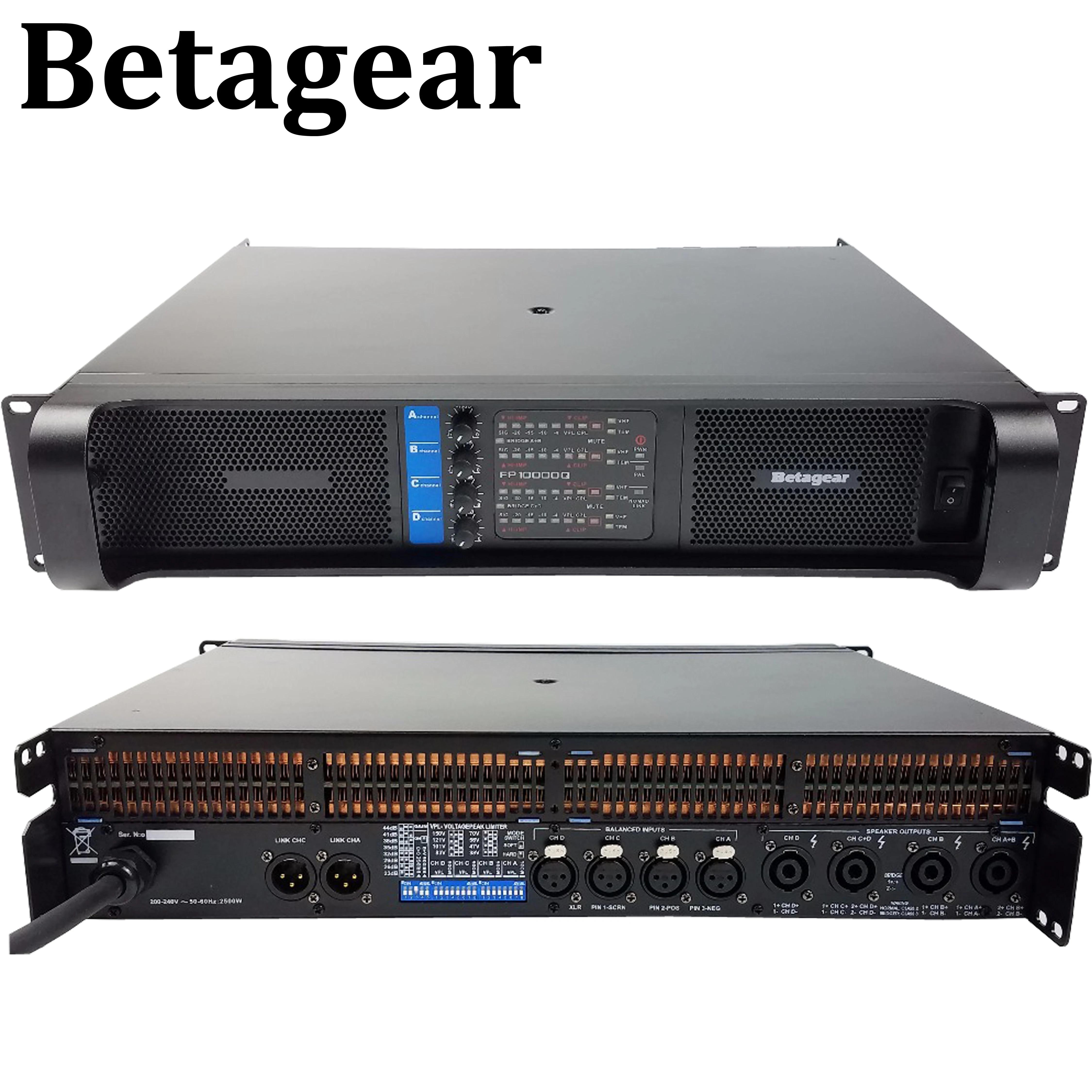 Betagear PF 10000q 2500W * 4 kanal güç amplifikatörü profesyonel fp  subwoofer amplifikatör çizgi dizi amplifikatörler ses amplificador|Stage  Audio