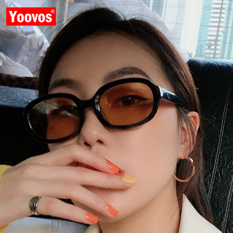 Yoovos Oval Women Sunglasses Small Frame Sunglasses Women Vintage Eyewear Brand Designer Sun Glasses Women Hip Hop Men Okulary