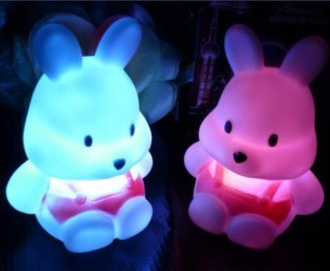 Energy-saving Creativity Of Radish Rabbit Colorful Night Lamp