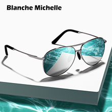 BM Pilot Sunglasses Polarized Men Women UV400 Sun Glasses Mens Driving Sunglass 2020 gafas de sol Vintage Brand okulary With Box