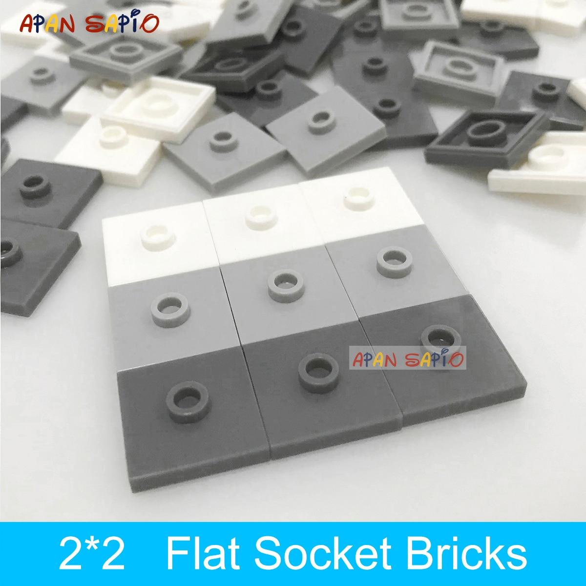 50pcs DIY Building Blocks Convex Seat Bricks 2x2 Dots Educational Plastic Toys for Children Compatible Brands Kids Gifts 87580