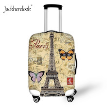 Protect-Cover Trolley Suitcase Travel-Case-Sheet Baggage Cartoon Jackherelook Eiffel-Tower