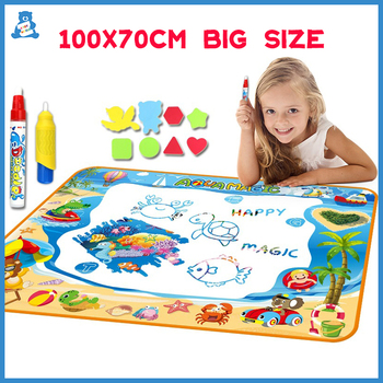 100x70cm Early Education Drawing Toy Magic Water Mat Reusable Painting Rug DIY Art Color Board Pad for Kids - discount item  35% OFF Learning & Education