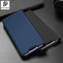 For Realme C11 Phone Case DUX DUCIS Magnetic Leather Soft Tpu Flip Wallet Stand Phone Cover Case with Card Slots