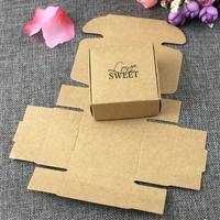 200pcs/lot 6.5*6.5*3cm brown design Cheese Cake Paper Box Container gift Packaging Wedding Christmas Use box