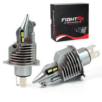 MINI luchador H4 P43T 9003 HB2 H4 LED Faros 1: 1 Bombillas...