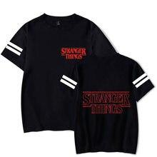 Venda quente coisas estranhas 3 t-shirts homem/mulher/crianças/moda casual preto t camisa crianças/adulto tamanho t camisa