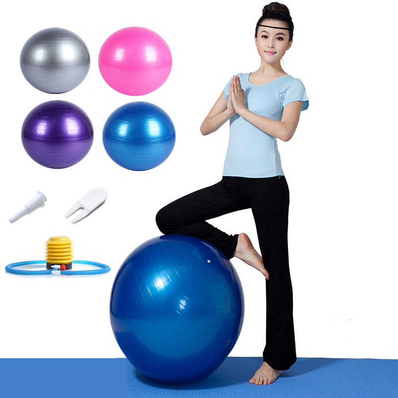 45cm 65cm 75cm Yoga Ball Fitness Balls Sports Pilates Birthing Fitball Exercise Training Workout Massage Ball Gym Ball With Pump