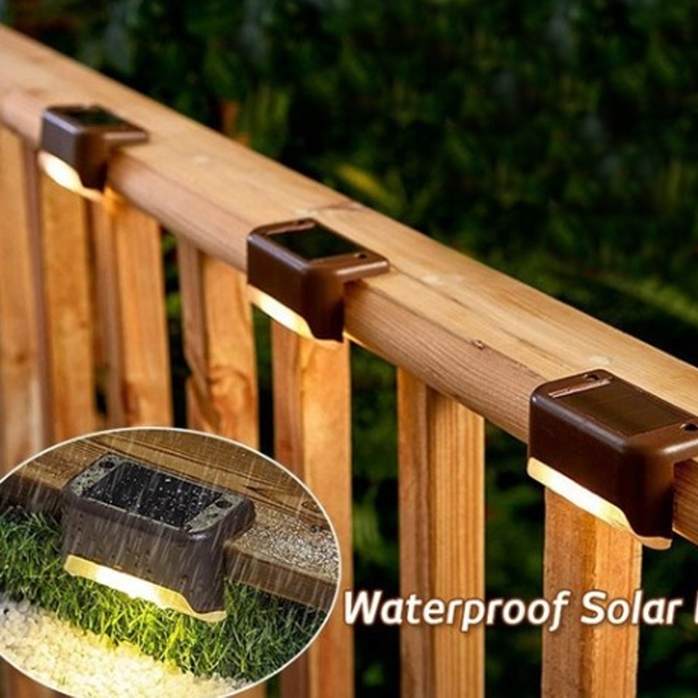 4/8/12 PCS Solar Lights Solar Step Lights Outdoor Waterproof Led Solar Stair Fence Lamp decoration for Patio Stairs Garden Yard