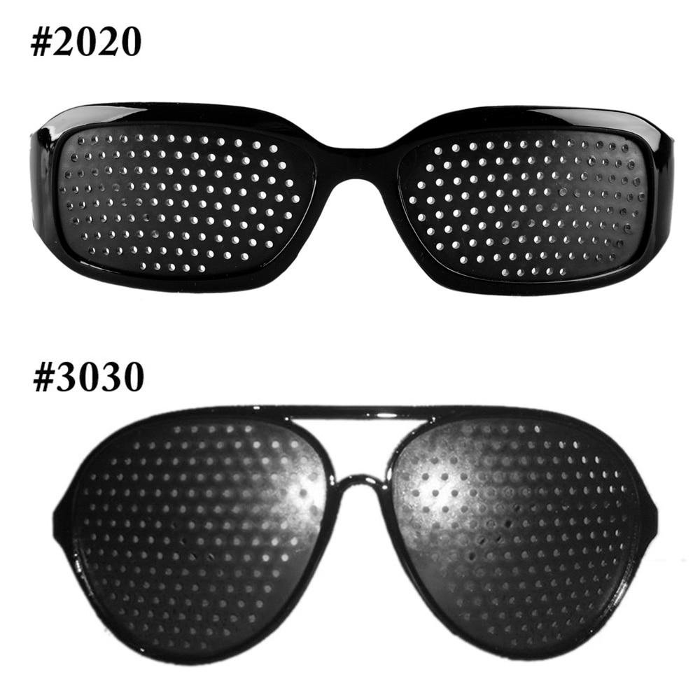 Anti-fatigue Black Pinhole Sunglasses Microporous Glasses Eye Exercise Eyesight Improve Anti-myopia Unisex Eyewear Vision Care