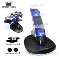 DATA FROG Dual USB Ports Charger Station For Sony Playstation PS4 Controller Charging Stand For PS4 Pro/Slim Wireless Gamepad