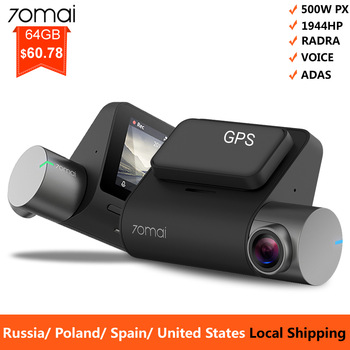 Mi 70mai Pro Dash Cam 1944P GPS ADAS For Car Camera Dvr 70 mai Pro Dashcam Voice Control 24H Parking Monitor WIFI Vehicle Camera