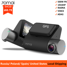 Mi 70mai Pro Dash Cam 1944P GPS ADAS For Car Camera Dvr 70 mai Dashcam Voice Control 24H Parking Monitor WIFI Vehicle
