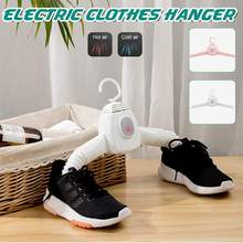 2 IN 1 Electric Folding Clothes Hangers Laundry Dryer Smart Shoes Dryer Rack Coat Hanger For Winter Home Travel Rod Rack Hangers