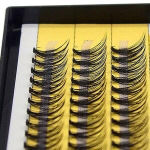 Image 5 - Kimcci 60 Bundles Mink Eyelash Extension Natural 3D Russian Volume Faux Eyelashes Individual 20D Cluster Lashes Makeup Cilios