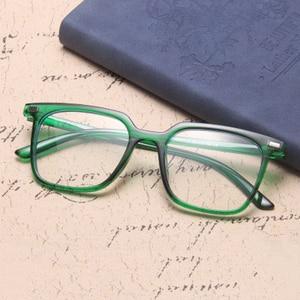 Image 4 - الموضة الكلاسيكية ساحة مكافحة نظارات الضوء الأزرق الرجال نظارات الكمبيوتر للنساء 2020 العلامة التجارية مصمم إطار نظارات شمسية شفافة