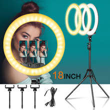 18 zoll Ring Licht LED Große Selfie Video Lampe Mit Stativ Telefon Clip Für YouTube Live Beleuchtung Foto Fotografie studio