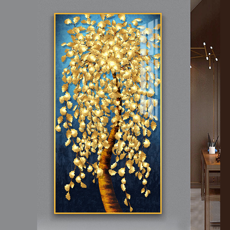 new arrive Golden tree landscape diamond embroidery Large rich tree 3d Picture of rhinestone diy mosaic diamant painting money-0