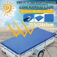 Cobertura de reboque dobrável camper de viagem ao ar livre impermeável à prova de vento dustproof capa protetora lona dossel com corda anti-uv
