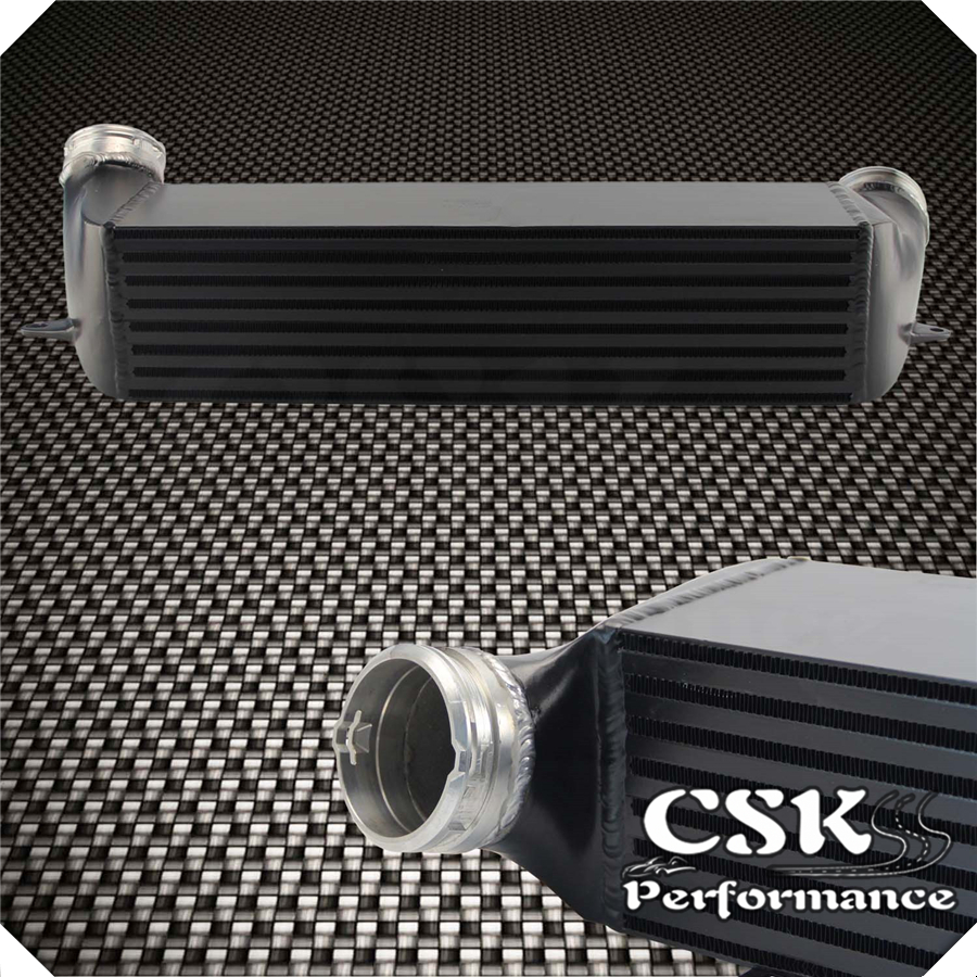 FMIC Tuning High Performance <font><b>Intercooler</b></font> Fits For 2007-2013 BMW E90 <font><b>335i</b></font> 335xi 135i <font><b>N54</b></font> N55 Black / Silver image