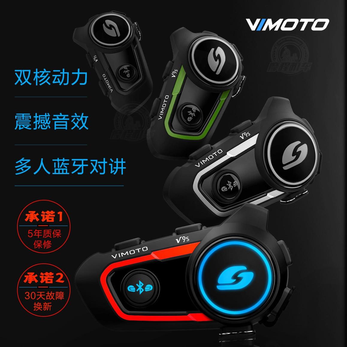 Version anglaise Easy Rider Vimoto casque moto Bluetooth casque stéréo casque téléphone portable GPS 2 Radio V9S