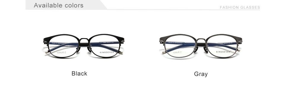 Pure Titanium KINGSEVEN Glasses Frame Men Vintage Round Eyewear Classic Optical Prescription Brand Designer Eyeglasses Women