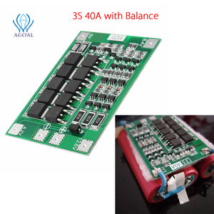 Image 5 - 3S 4S 25A 40A 18650 Lithium Battery Protection Board 11.1V 12.6V 14.8V 16.8 High Current With Balanced Over Charge Discharge