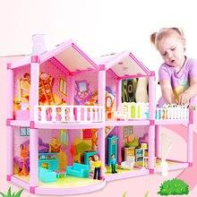 Handgemachte Puppenhaus Schloss DIY Haus Spielzeug Miniatur Puppenhaus Geburtstag Geschenke Pädagogisches Spielzeug Puppe Villa Mädchen DIY Spielzeug