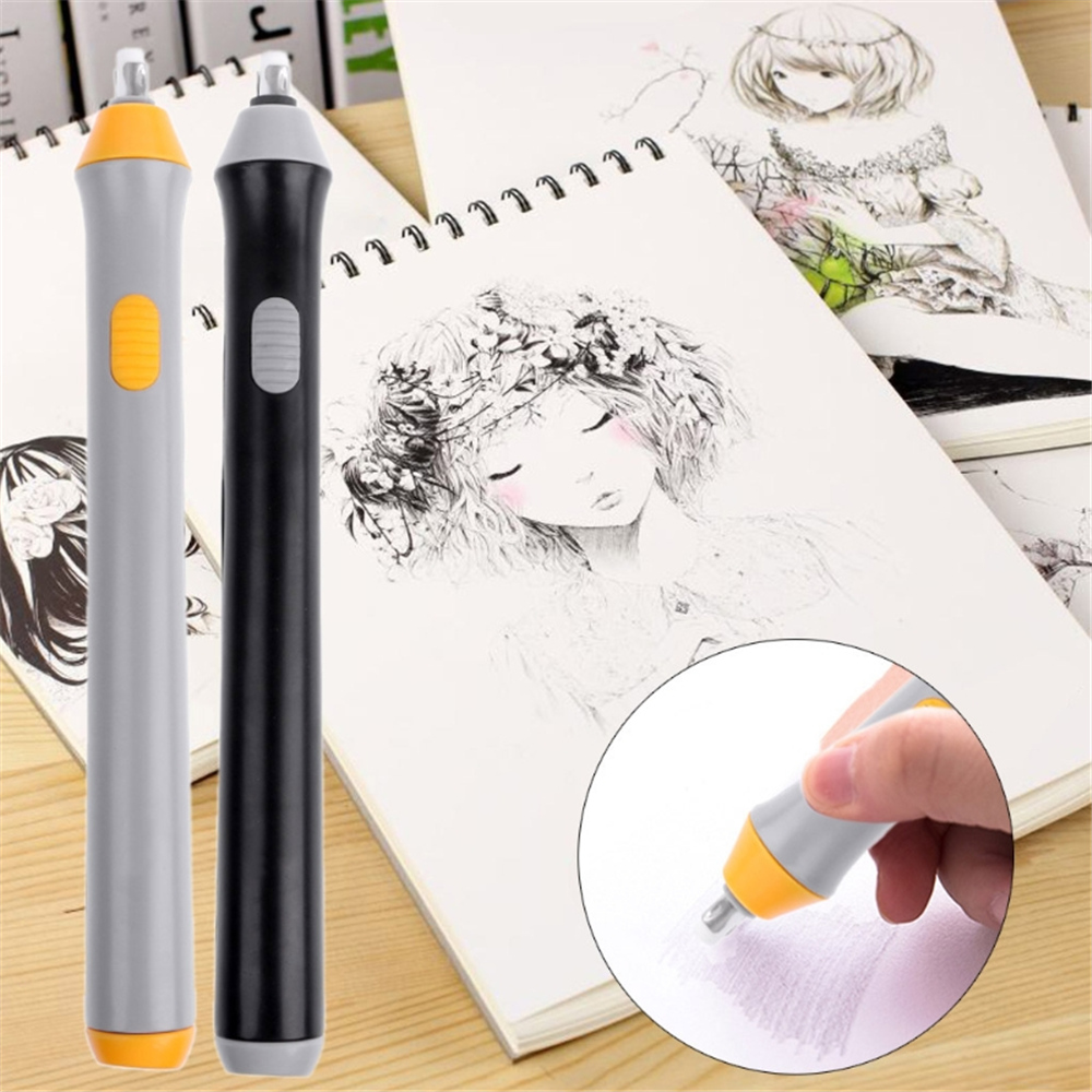 Best Deal≡Pencil-Eraser-Kit Drawing Sketch for School with 22pcs Rubber Refills Portable Highlights