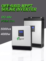 5kva 4000W Hybrid Solar Inverter 50A PWM Solar Charge Controller DC 48V Pure Sine Wave home inverter with battery