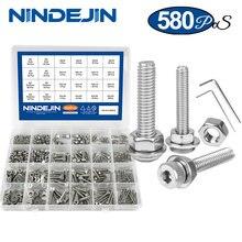 Набор винтов nindjin 580 шт/компл с шестигранной головкой из