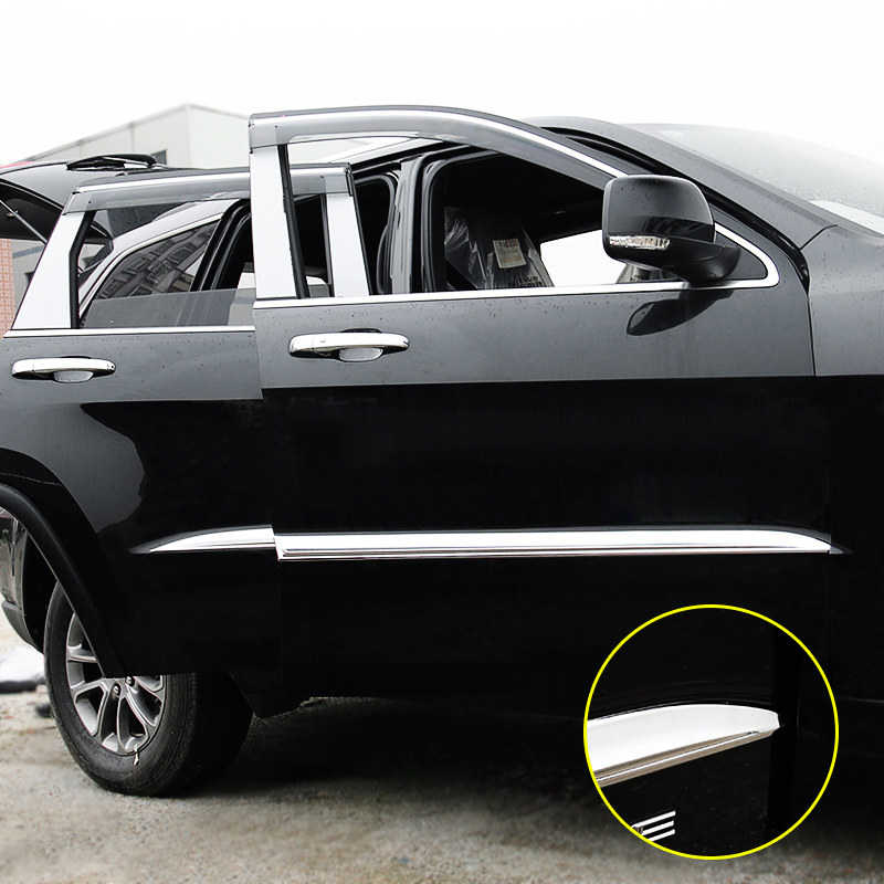 4pcs Door Sills Scuff Kick Plate Protector For Jeep Grand Cherokee 2011-2020 WK2