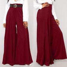 ZANZEA-pantalones de pierna ancha de cintura alta para mujer, pantalón largo, liso, Estilo Vintage, Palazzo, Retro, de talla grande
