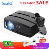Newpal мини-проектор 3D проектор для домашнего кинотеатра Android wifi 1800 люмен 720P светодиодный проектор GP80 бразильский российский проектор