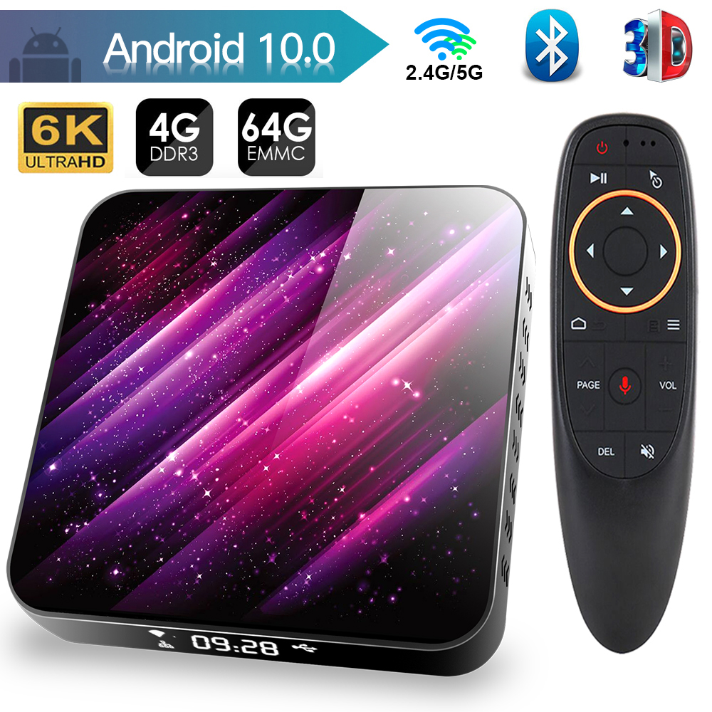 ТВ-приставка android 10 2,4G и 5,8G Wifi H616 Bluetooth медиаплеер 4K 3D видео 4 ГБ 32 ГБ 64 Гб YouTube smart tv box Android