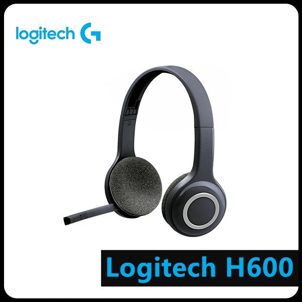 Logitech H600 2.4GHz Wireless Headset Headphones with Mic for PC White Computer Peripheral Accessories