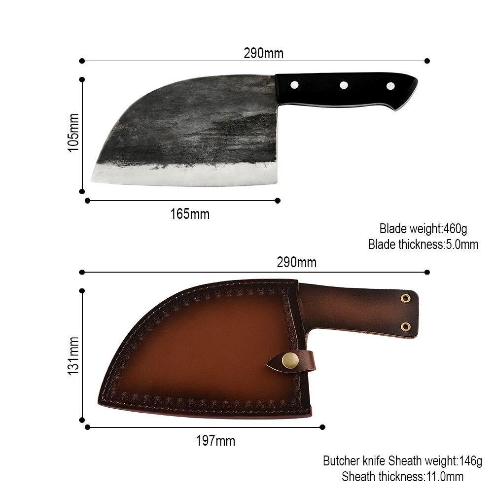 Ручной работы китайский Мясник кованые кухонные ножи из высокоуглеродистой стали нож шеф-повара костяной измельчитель полный нож с ручкой ...