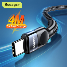 Essager USB Type C Cable For Samsung Xiaomi mi 3A Fast Charging USB-C Cable Mobile Phone Charger USBC Type-C Data Wire Cord 3m