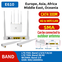 300mbps wireless 4G LTE VPN router CPE 3G / 4G LTE mobile wifi hotspot with SIM card slot, 4 detachable additional antennas