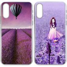 Lembut Cetak Capa For Galaxy Grand A3 A5 A7 A8 A9 A9S On5 On7 Plus Pro Star 2015 2016 2017 2018 Manis Bunga Lavender(China)