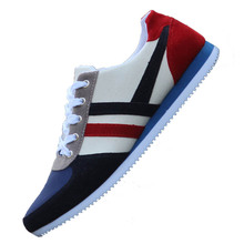 Breathable Men Casual Shoes Canvas Fashion Sneakers Autumn Spring Large Size 46 Low-cut Lace-up Mixed Colors Man Promotion