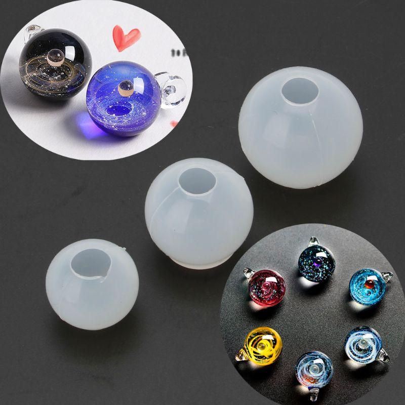 JAVRICK 20 25 30mmUniverse Ball Pendant Epoxy Resin Silicone Mold Jewelry Making Tools