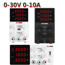 30V 10A Adjustable DC Laboratory Power Supply Voltage Regulator Stabilizer Switch 4 Digit Bench Source Power Supply for Monitor