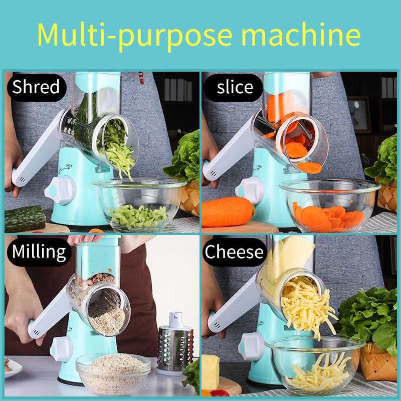Manual cortador de legumes slicer acessórios cozinha multifuncional redondo mandoline slicer batata queijo cozinha ferramenta