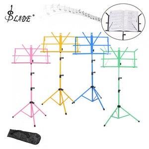 Image 1 - Soporte plegable para trípode de música soporte de aleación de aluminio altura ajustable con bolsa de transporte para instrumento de guitarra y violín